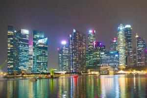 Wolkenkratzer in Singapur Stadt