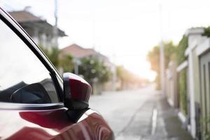 Auto Seitenspiegel Detail foto