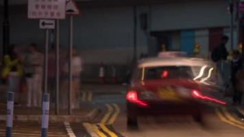 Taxi Langzeitbelichtung abstarct