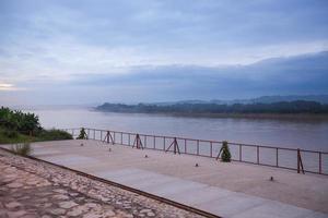 Mekong Fluss bei Sonnenuntergang foto