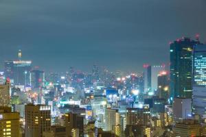 Tokio Stadt in der Nacht foto