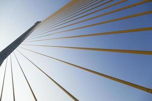Rama VII Brücke in Bangkok bei Sonnenaufgang foto
