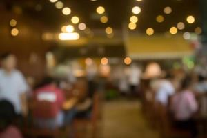 unscharfe Restaurant- oder Cafészene für Hintergrund foto
