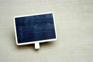 schwarzes Tafelschild