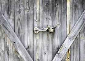 Nahaufnahme von Holztüren foto