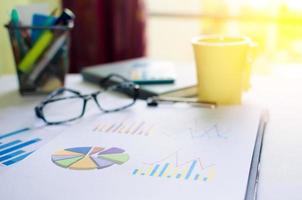 Papiere mit Grafiken