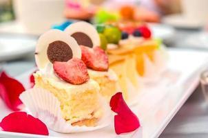 Kuchen auf dem Tisch