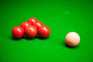 Snooker Bälle auf dem Tisch