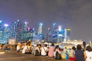 Menschen in Singapur Stadt