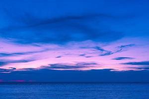 Sonnenuntergang und Meer foto