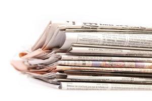Stapel Zeitung foto