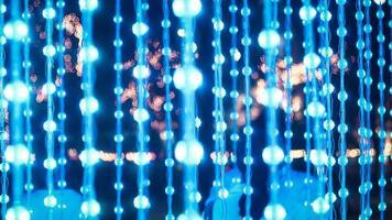 blaue Lichterketten