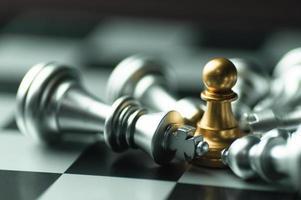 gefallene Schachfiguren