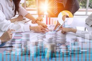 Geschäftsleute Brainstorming, Planung und Diskussion