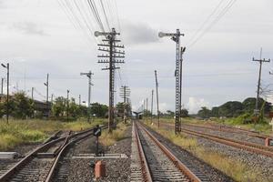 Eisenbahn und Masten