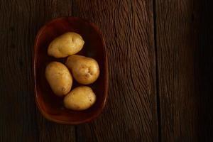 Draufsicht auf Kartoffeln foto