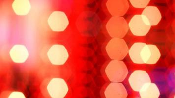 rote Lichterketten Bokeh foto