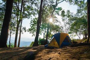 Campingplatz in Thailand foto