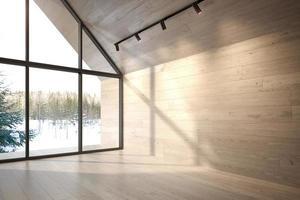 leerer Raum eines Waldhauses