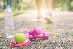 Übung und Fitness-Diät-Konzept foto