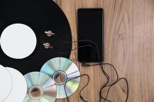 Draufsicht auf DVD-Musikset