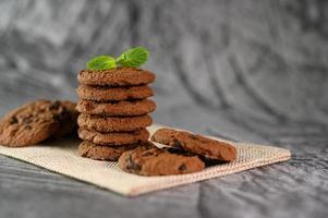 Kekse auf einem Tuch