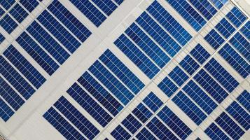 Draufsicht auf Solarzellen foto