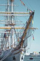 Foto eines Segelschiffs in Aalbord, Dänemark