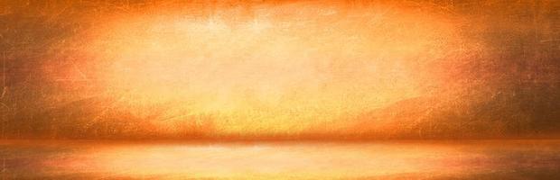 gelber und orange Grunge Wandhintergrund foto