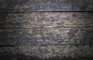 Grunge und Vintage alter dunkler Holzhintergrund foto