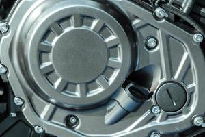 Fragment eines Motorradmotors foto
