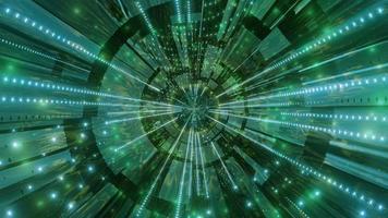 grünes und weißes Licht und Formen in der Kaleidoskop-3D-Illustration für Hintergrund oder Tapete foto
