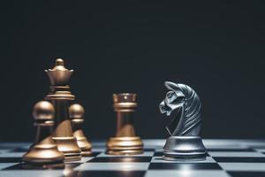 Schuss eines Schachbretts foto
