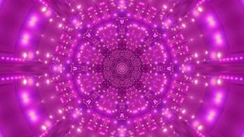 lila abstrakte blumenförmige Lichter tunneln 3d Illustration Hintergrund Tapetengrafik foto