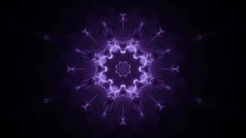 lila und weiße Lichter und Formen Kaleidoskop 3d Illustration für Hintergrund oder Tapete