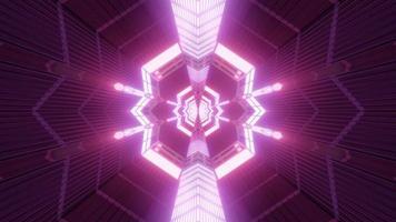 bunte Formen Kaleidoskop 3d Illustration für Hintergrund oder Tapete