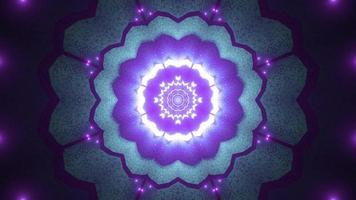 bunte Lichter und Formen Kaleidoskop 3d Illustration für Hintergrund oder Tapete foto