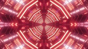 buntes Licht und Formen kaleidoscope 3d Illustration für Hintergrund oder Tapete