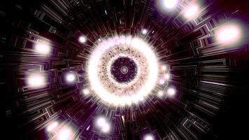 buntes Licht und Formen kaleidoscope 3d Illustration für Hintergrund oder Tapete foto