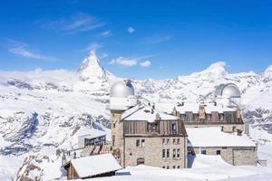 das Observatorium zum gornergrat gipfel in der schweiz, 2018 foto