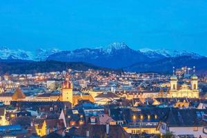 Blick auf Luzerner Stadt, Schweiz