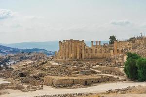 Tempel der Artemis in Gerasa, heutiger Jerash, Jordanien foto