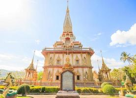 Wat Chaitararam Tempel in der Provinz Phuket, Thailand, 2017 foto