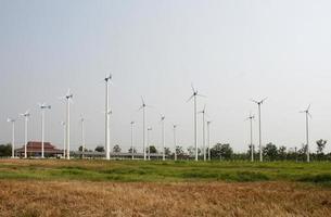 Windkraftanlagen auf einem Feld