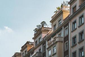obere Terrassen von Wohngebäuden