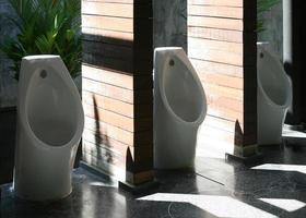 Urinale im Sonnenlicht foto