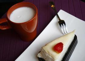 Dessert und Milch