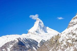 Blick auf das Matterhorn in der Schweiz foto