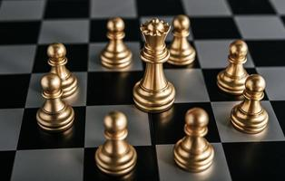 Gold Schach Brettspiel