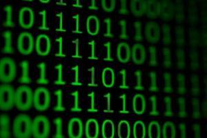 numerischer fortlaufender Code in grüner Farbe foto